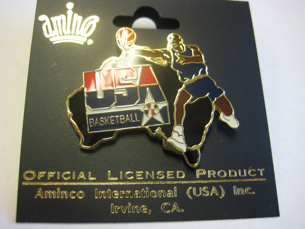 Pin By Hoopsvilla Com On Nba: NBA PIN~USA BASKETBALL PIN BADGE~Michael Jordon~DREAM TEAM