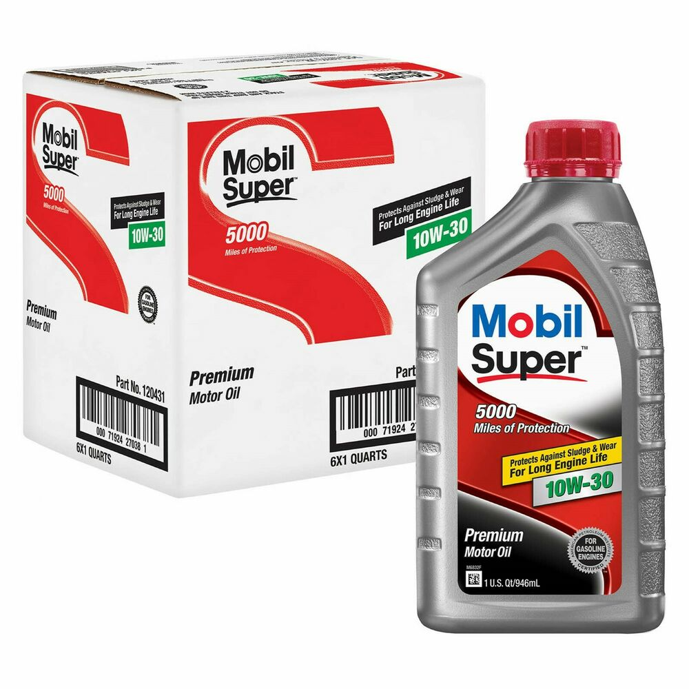 10w30 mobil special premium motor oil 12 quarts in case for How long does motor oil last