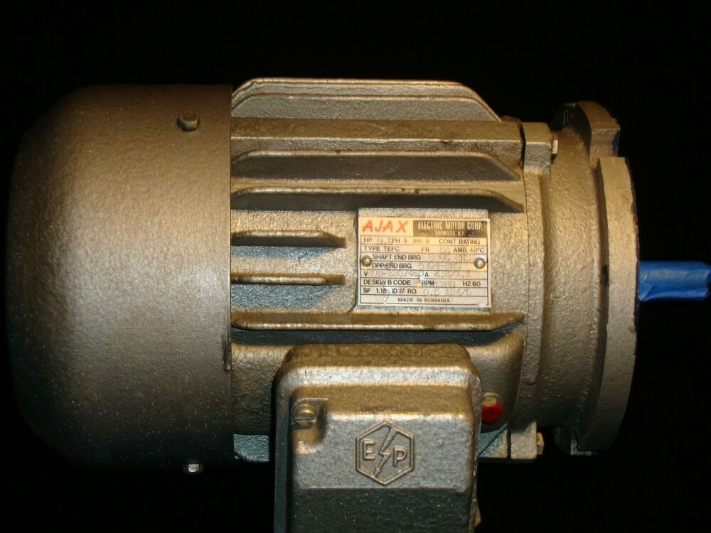 ajax 1 2 hp 3 phase motor ebay