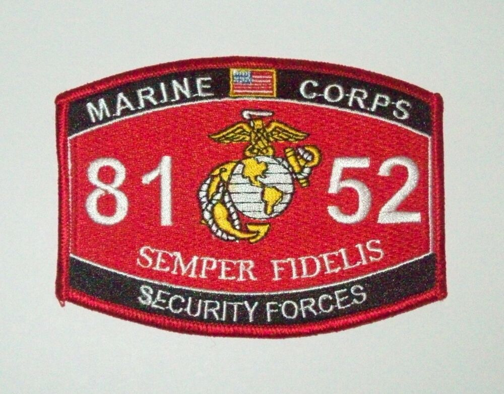 8152 security forces us marine corps mos military patch