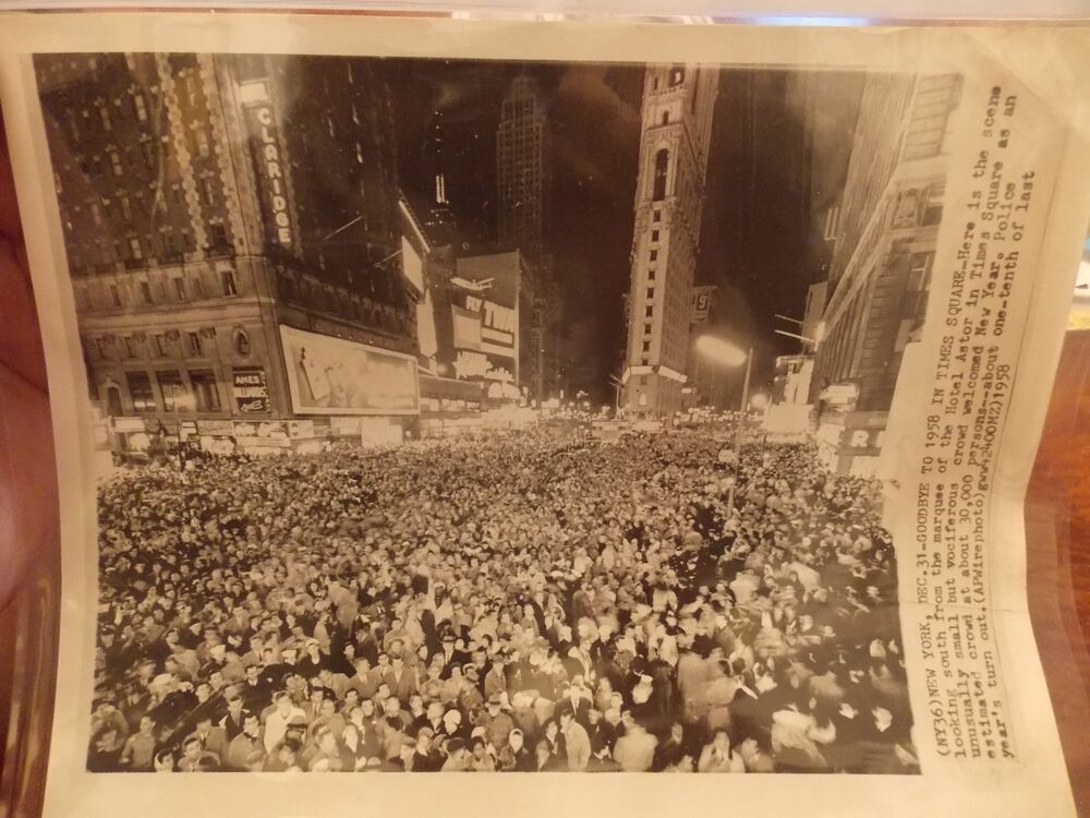 Original 1958 Times Square New Years Eve NYC New York City ...