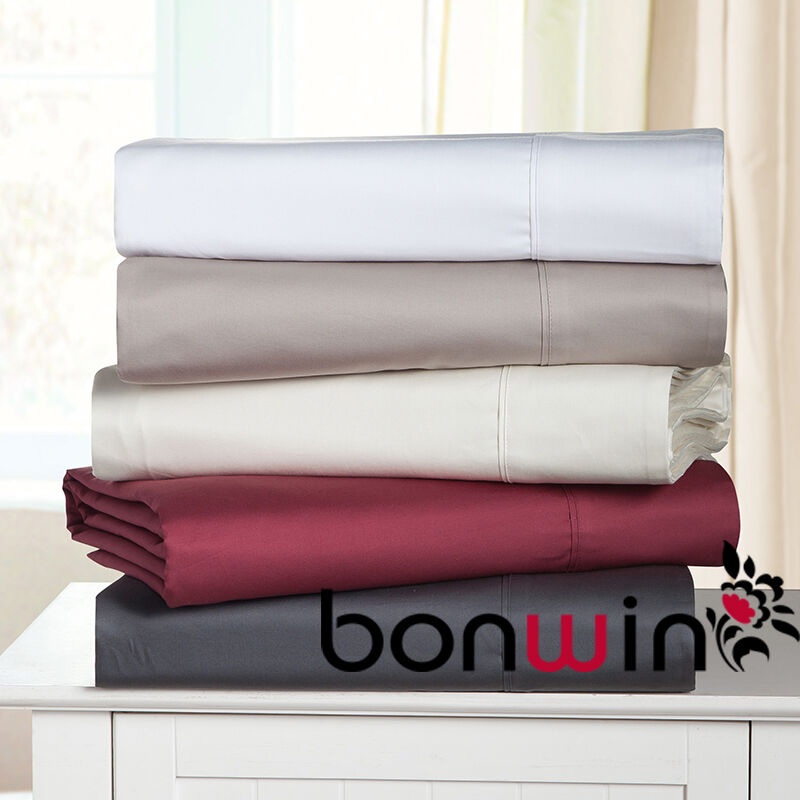 new queen size 1000tc 100 egyptian cotton fitted flat sheet pillowcase bed set ebay. Black Bedroom Furniture Sets. Home Design Ideas