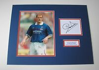 SUPERB GORDON DURIE IN GLASGOW RANGERS SHIRT HAND SIGNED PHOTO MOUNT COA