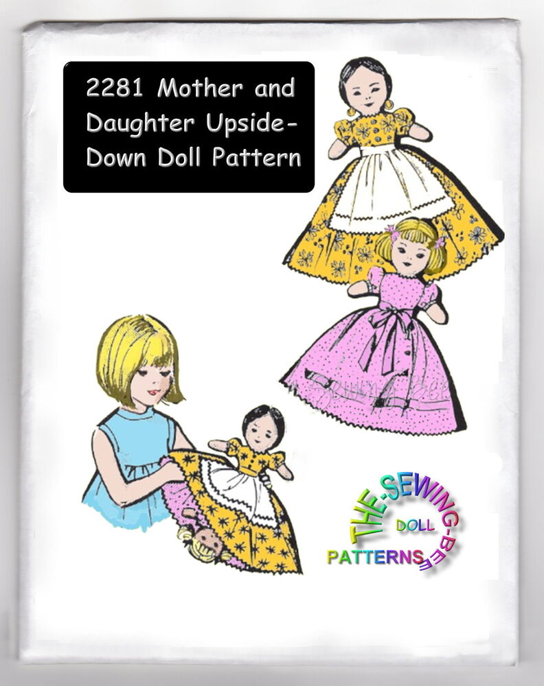 Mother-daughter upside down topsy turvy doll pattern 2281 eBay