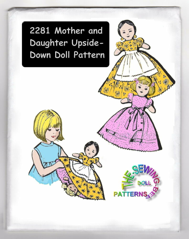 Knitting Pattern For Upside Down Doll : Mother-daughter upside down topsy turvy doll pattern 2281 eBay