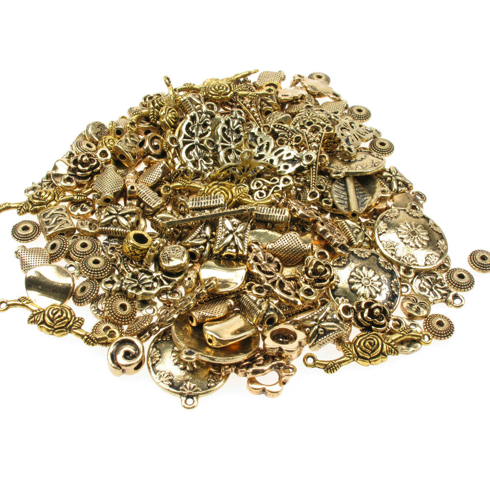 75g Gold Plated Mixed Spacer Beads