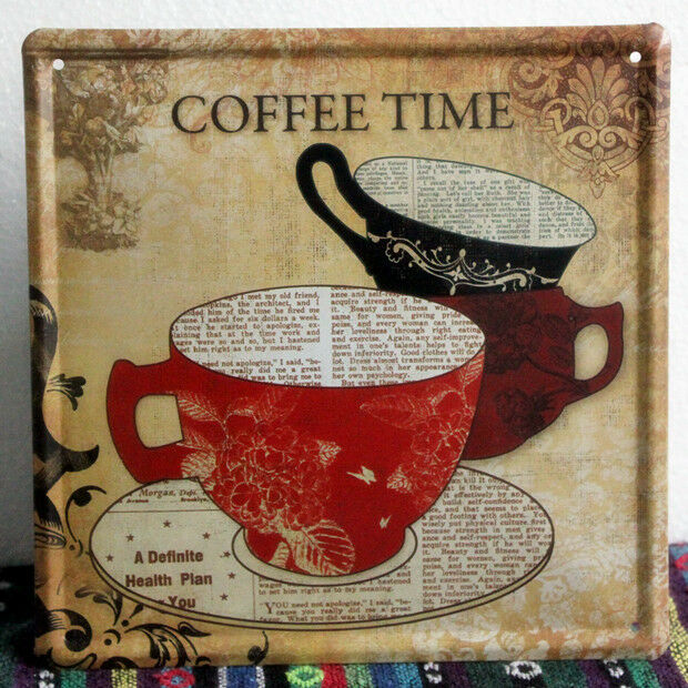 Vintage Coffee Time Metal Sign Home Kitchen Wall Decor Tin Cafe Poster Ld468 Ebay
