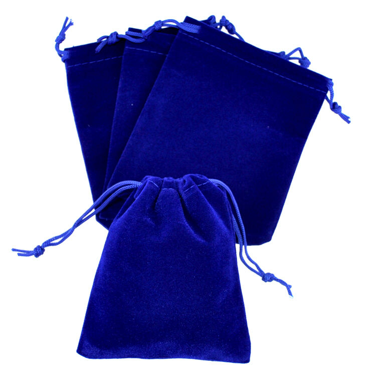 """Wedding Gift Pouches: Lot Of 25 50 100 Blue 3""""x 4"""" Jewelry Pouches Velvet Gift"""
