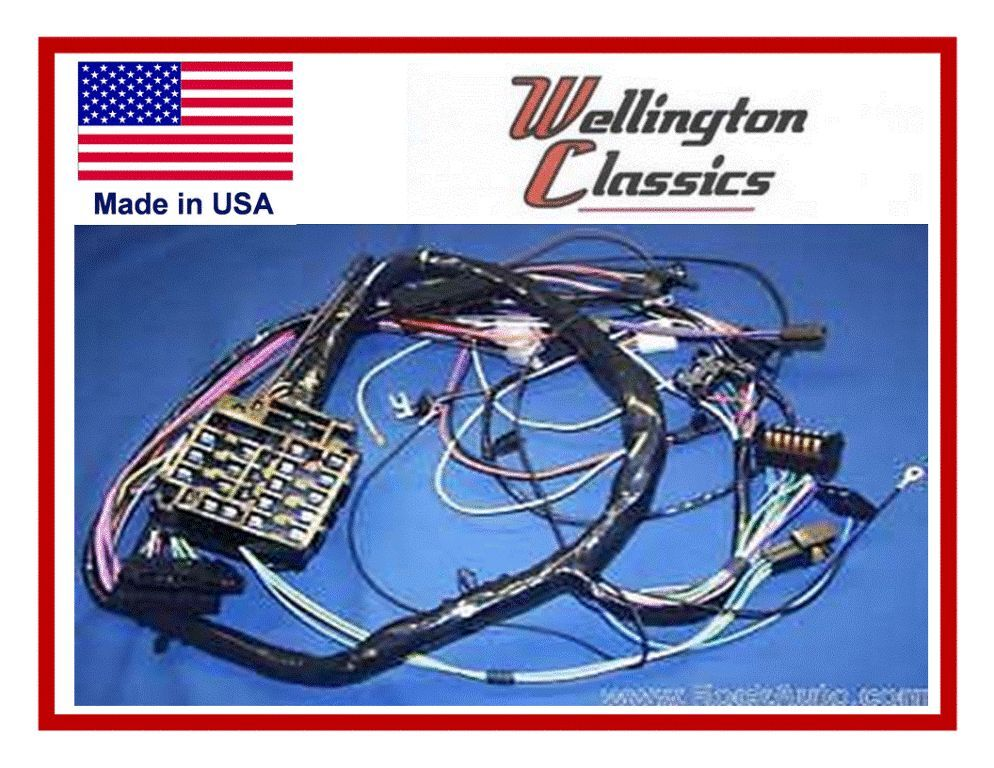 1968 mustang wiring harness diagram 1968 corvette wiring harness 1968-1971 corvette dash wiring harness | ebay