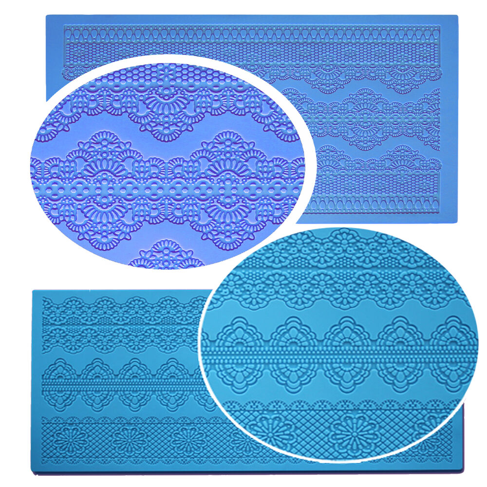 Silicone Cake Decorating Lace Icing Impression Mat For