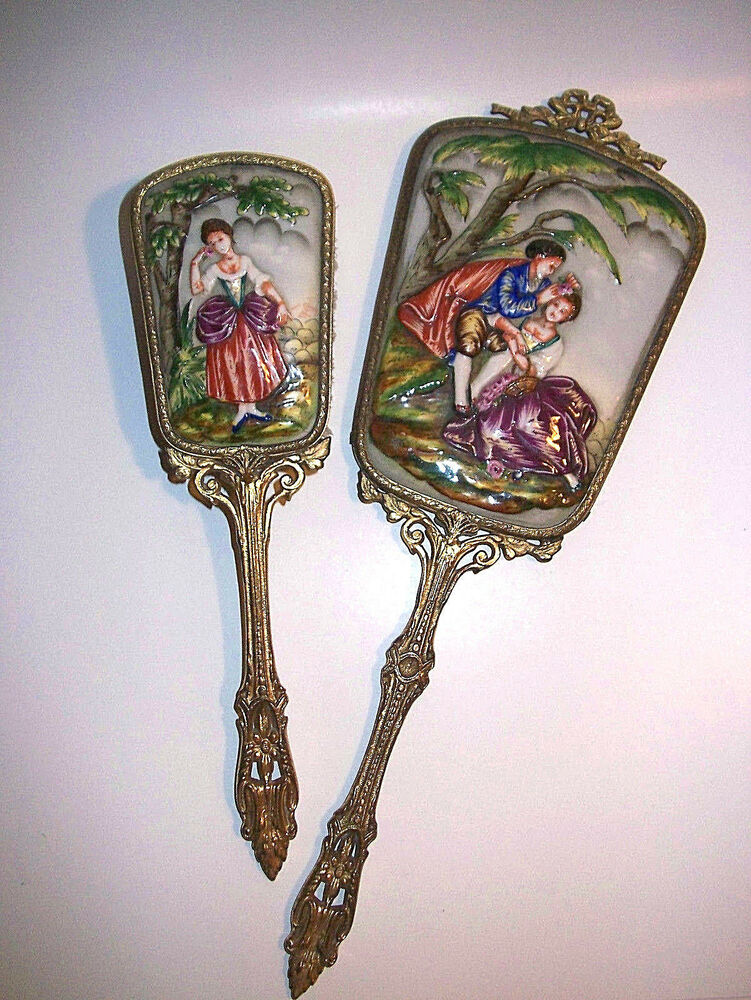Victorian Hand Painted Mirrors