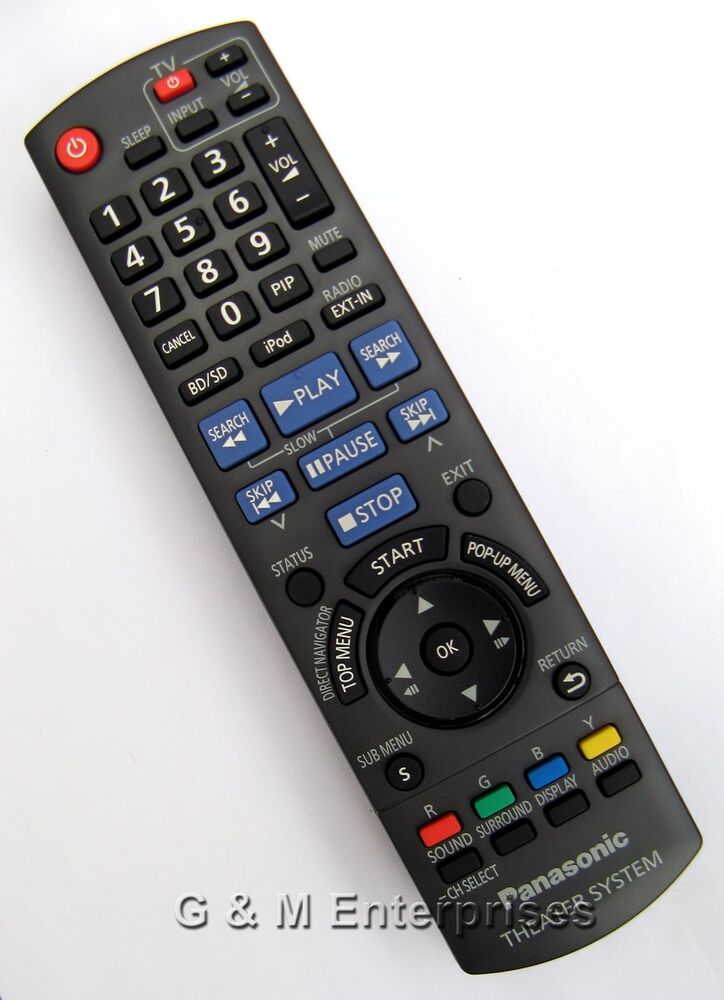 new panasonic n2qakb000092 remote control for sc bt228 home theater us seller ebay. Black Bedroom Furniture Sets. Home Design Ideas