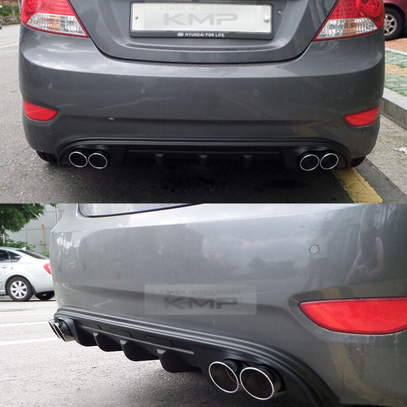 Rear Bumper Dual Muffler Type Diffuser For Hyundai 2011 17