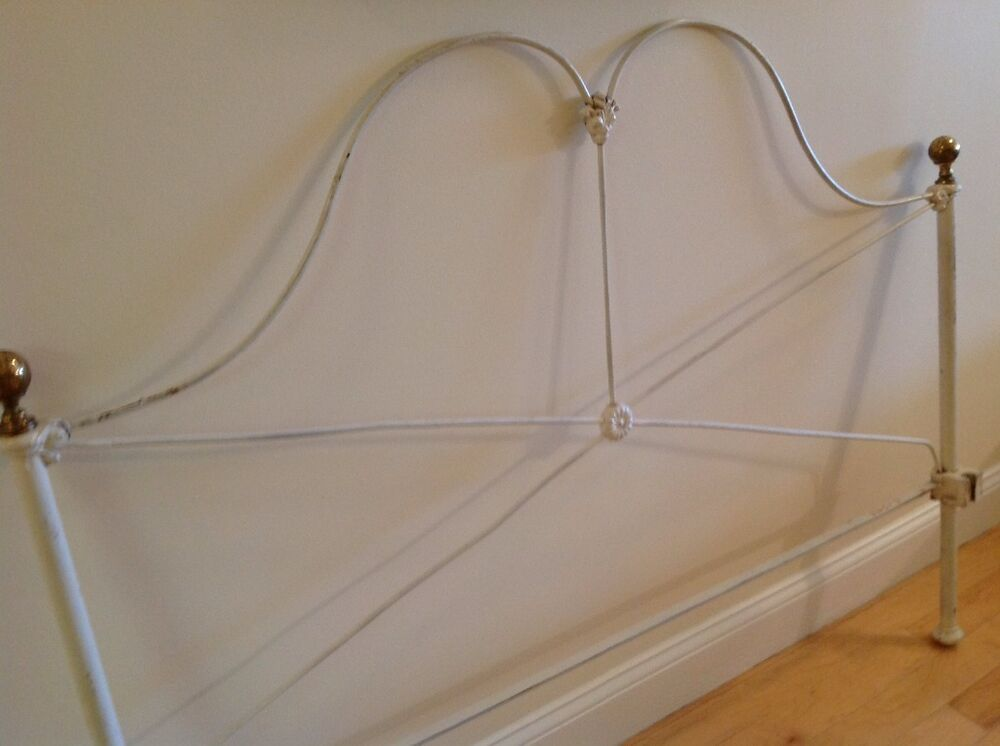 Antique White Wrought Iron Double Bed Ebay