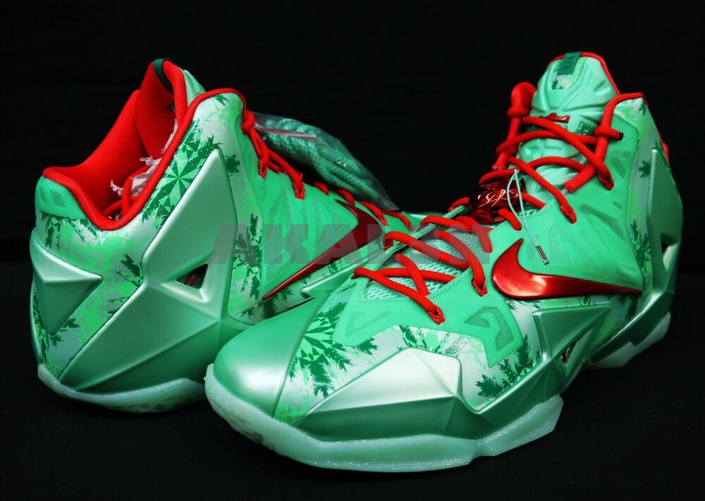 nike lebron james xi 11 2013 christmas xmas 616175 301 ds