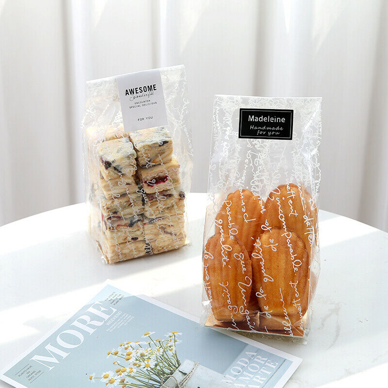 Wedding Favor Bags Cellophane : ... Cellophane With Gusset Wedding Xmas Favor Biscuit Cupcake Party Bags