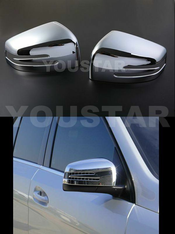 X2 chrome door mirror covers mercedes ml gl class w166 for Mercedes benz chrome accessories