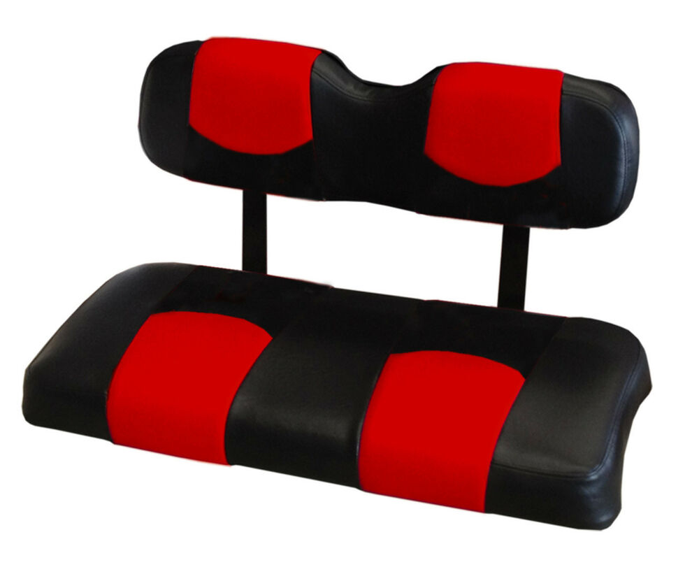ezgo rxv golf cart front seat replacement set covers red and black ebay. Black Bedroom Furniture Sets. Home Design Ideas