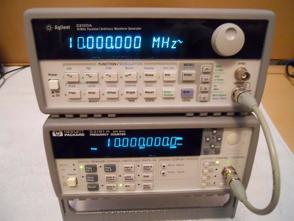 Agilent Frequency Counter : Keysight agilent hp a rf frequency counter mhz