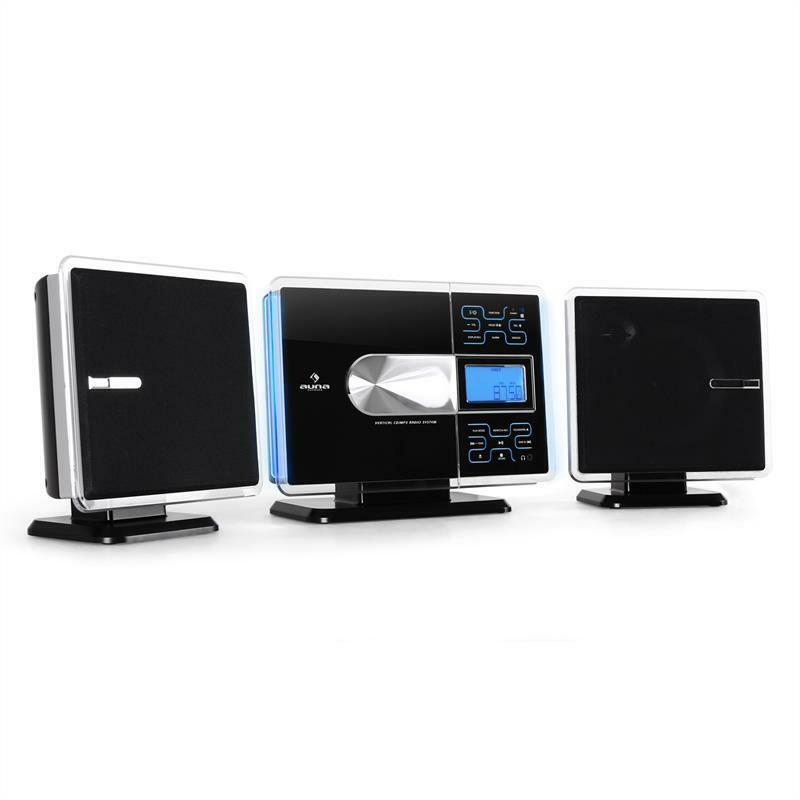 new design hifi cd player stereo system usb sd mp3 aux vertical wall mountable ebay. Black Bedroom Furniture Sets. Home Design Ideas