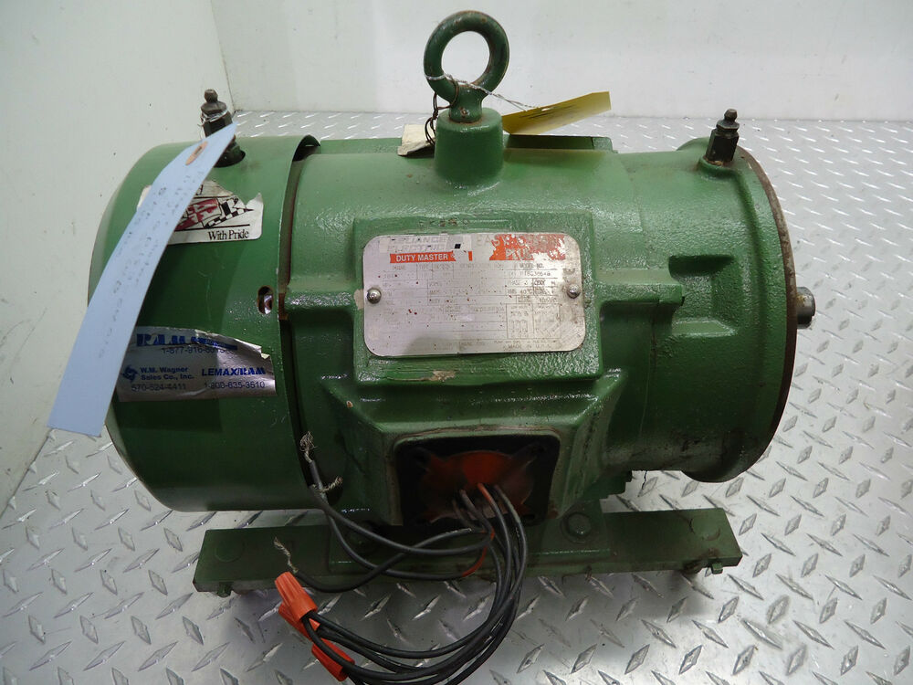 Reliance electric motor p18g3864b 5hp 230 460v 3ph 1745rpm for 5hp 3ph electric motor