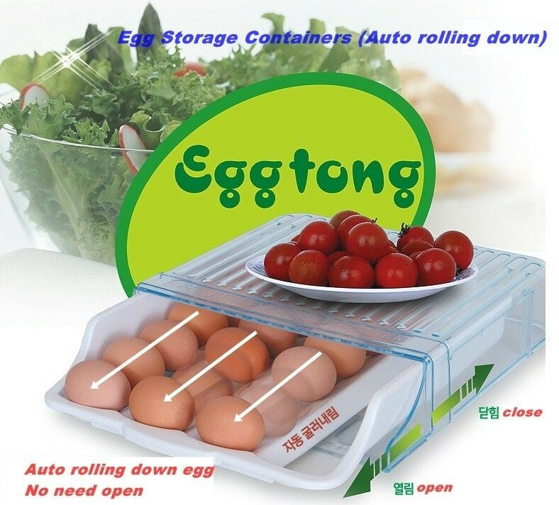 Egg Storage Containers (Auto rolling down) Refrigerator ...