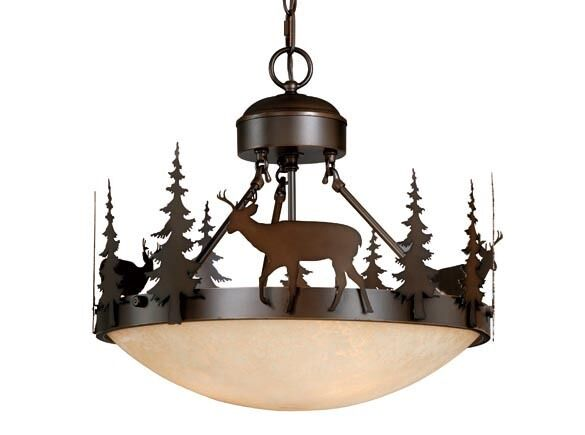 Bryce Vaxcel Deer Semi Flush Lighting Country Lodge Rustic