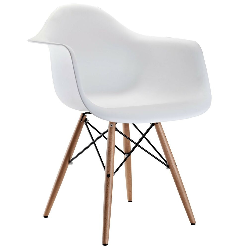 White modern eiffel abs shell pyramid dining arm chair for White dining chairs with arms