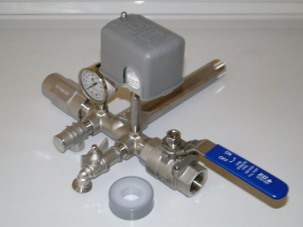 Stainless 1x11 Tank Tee Kit   Valves Water Well Pressure
