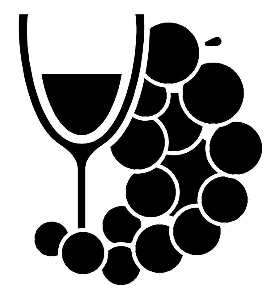 "Wine Grapes Decal 5"" Choose Color Removable Vinyl wall art ..."