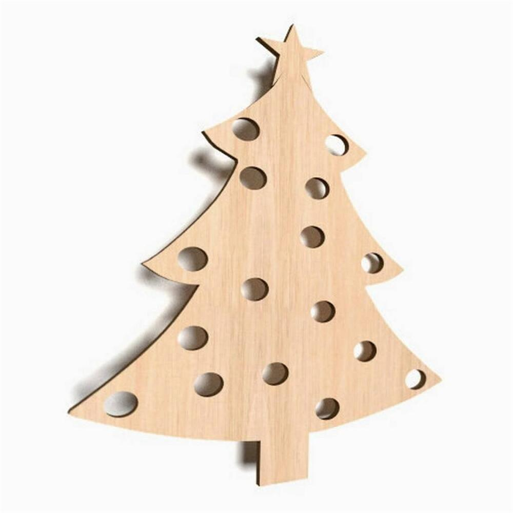 10x wooden christmas tree craft tree blank baubles shape art decoration w47 ebay. Black Bedroom Furniture Sets. Home Design Ideas
