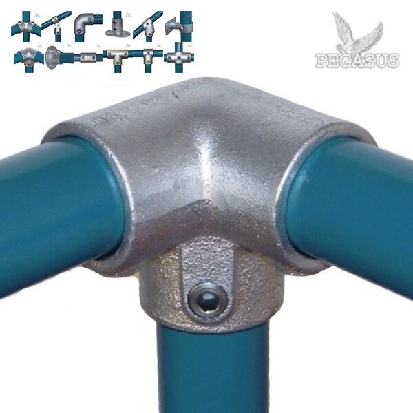 Pipe clamp handrail system mm fittings connectors