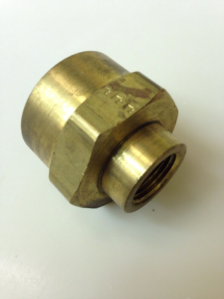 Brass quot npt female pipe hex reducing