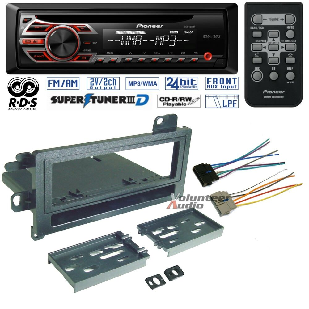 Car Stereo Wiring Harness Kit : Pioneer car radio stereo cd player dash install mounting