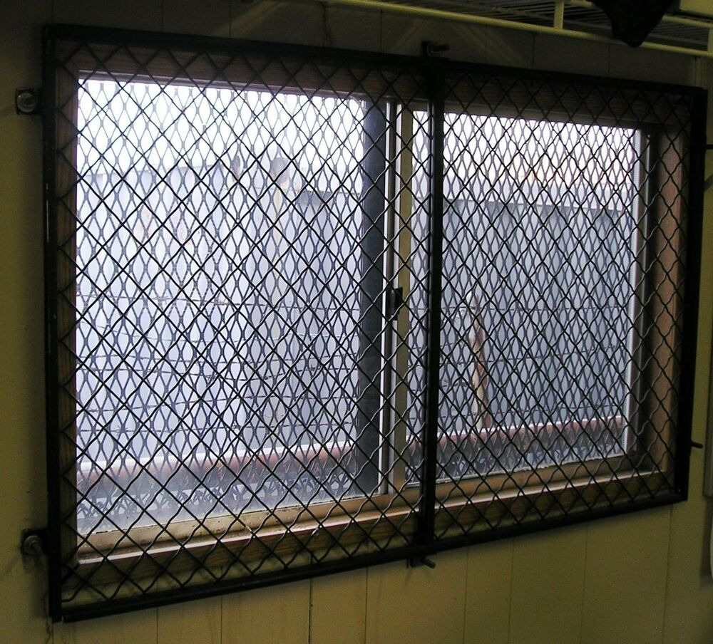 48 x 29 woven wire security window guard mobile modular for 12x48 window