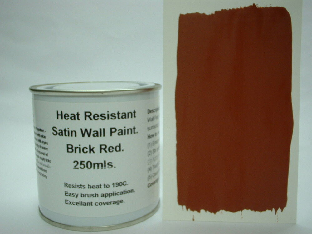 1 x 250ml satin brick red heat resistant wall paint for. Black Bedroom Furniture Sets. Home Design Ideas