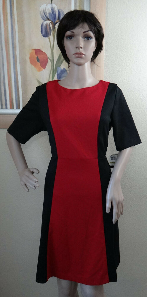 STYLE & CO STRETCH black/red color block slimming optical ...