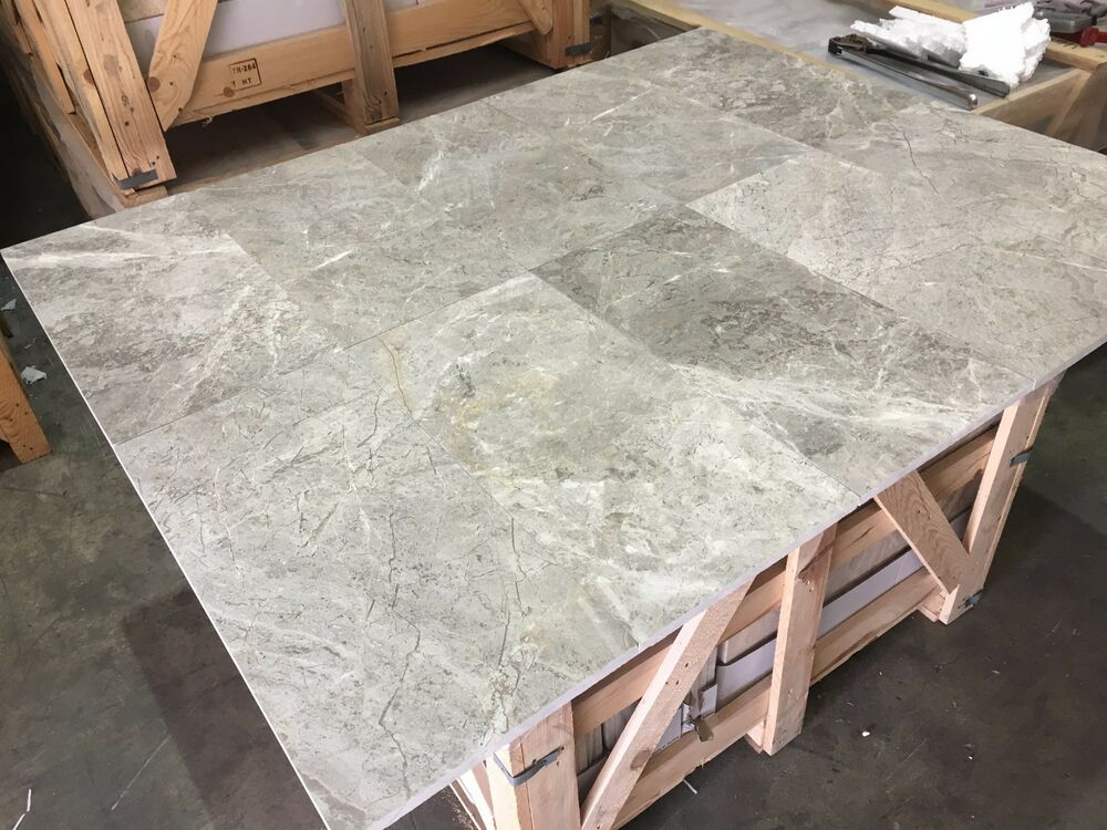 Marble Flooring Sample : Quot sample silver shadow honed or polished marble slab