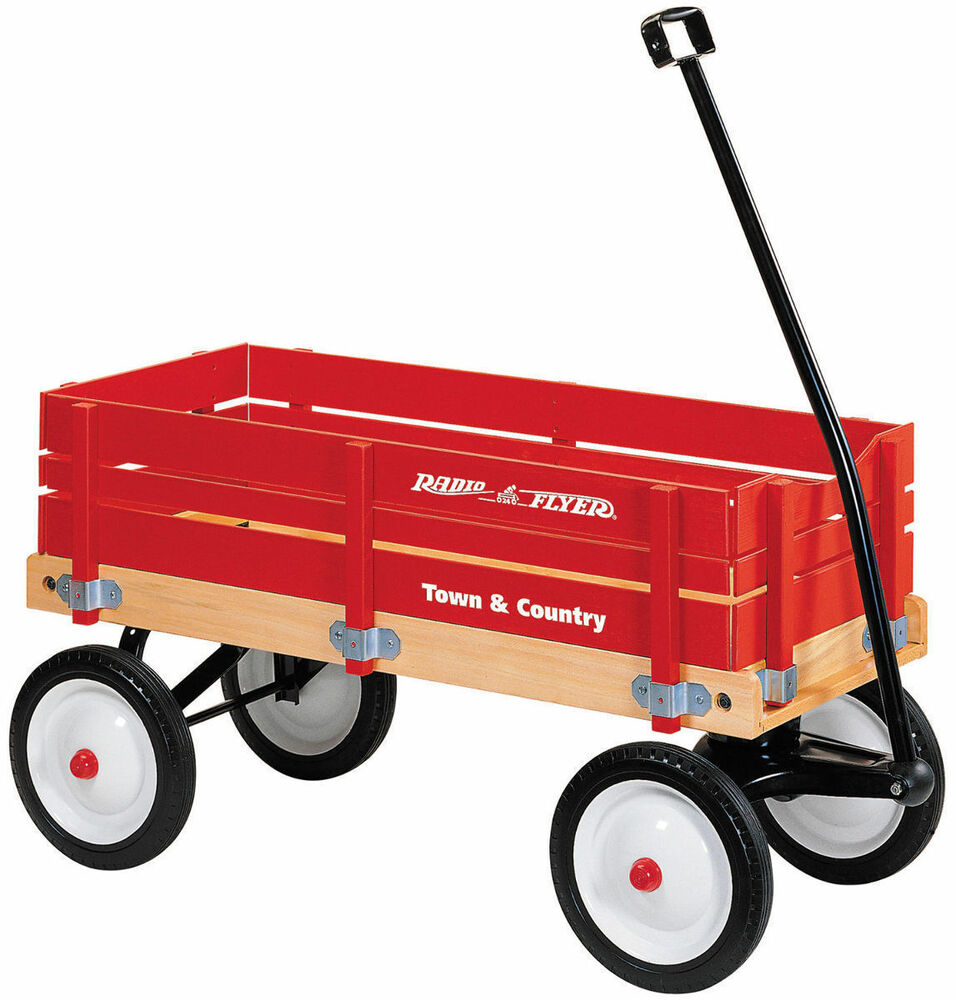 Radio Flyer #24 Town and Country Wagon w/ Removable Wooden ...