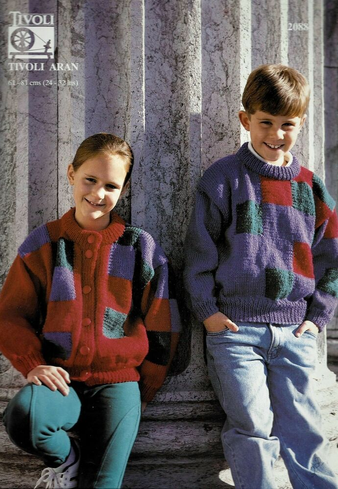 Set Of 5 Tivoli Knitting Patterns Pullovers Cardigans And Vests