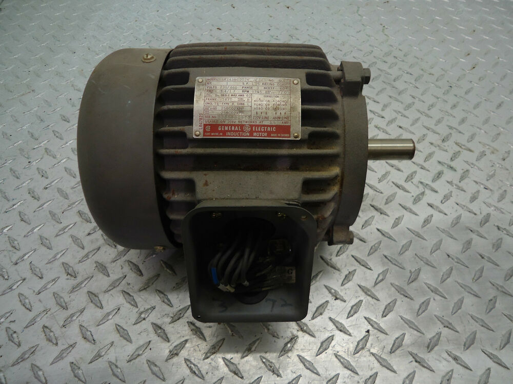 General Electric 5k143bc202a Induction Motor 1hp 230 460v