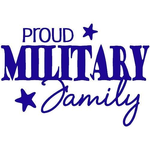 Proud Military Family Wall Decal Quote Words Lettering