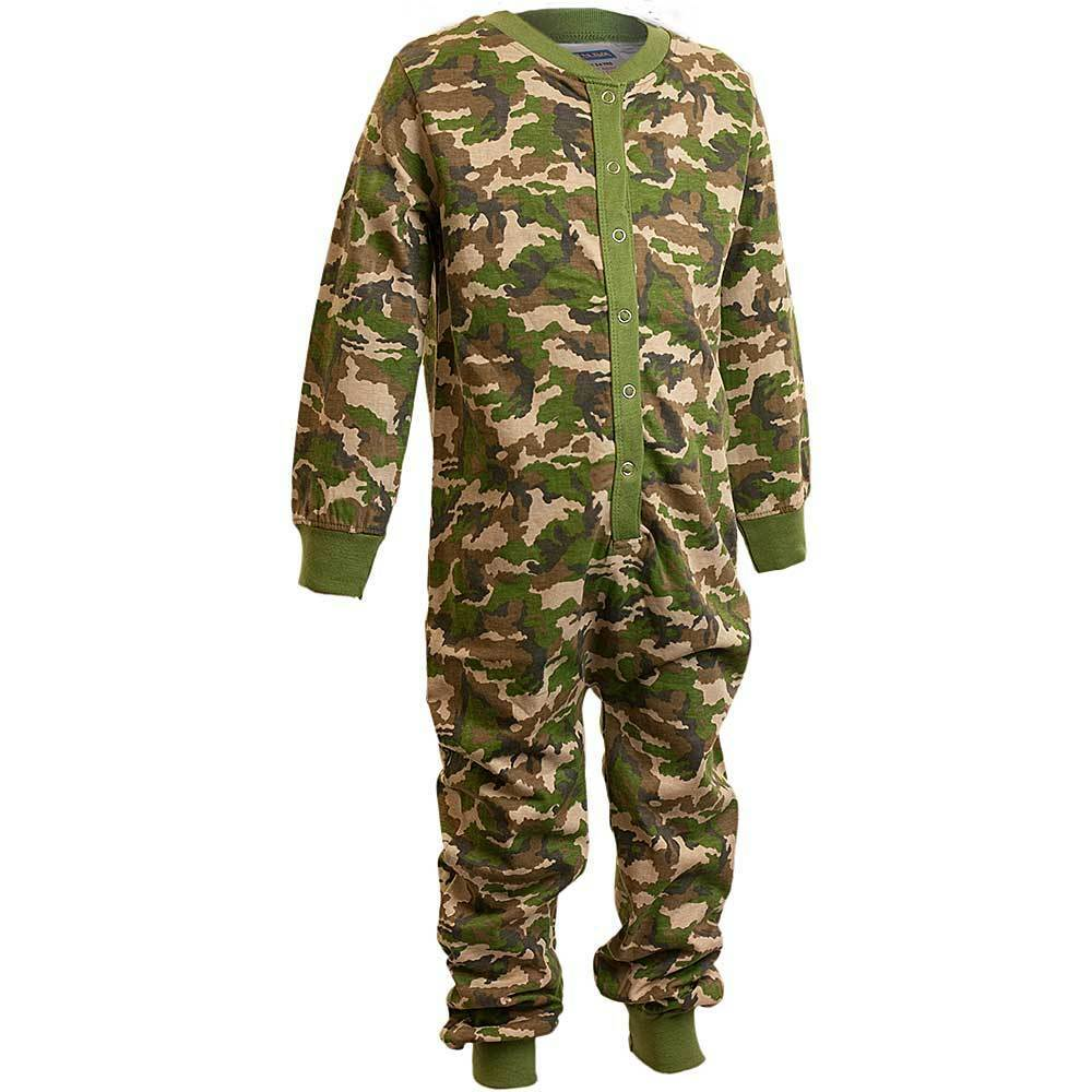 Green Camouflage footy pajamas are hit with the kids in junior sizes. These warm fleece onesie footed pajamas have a zipper front and non slip soles. Prepare your kiddo for naptime or night time with a pair of these cuddly green camo footy pajamas.
