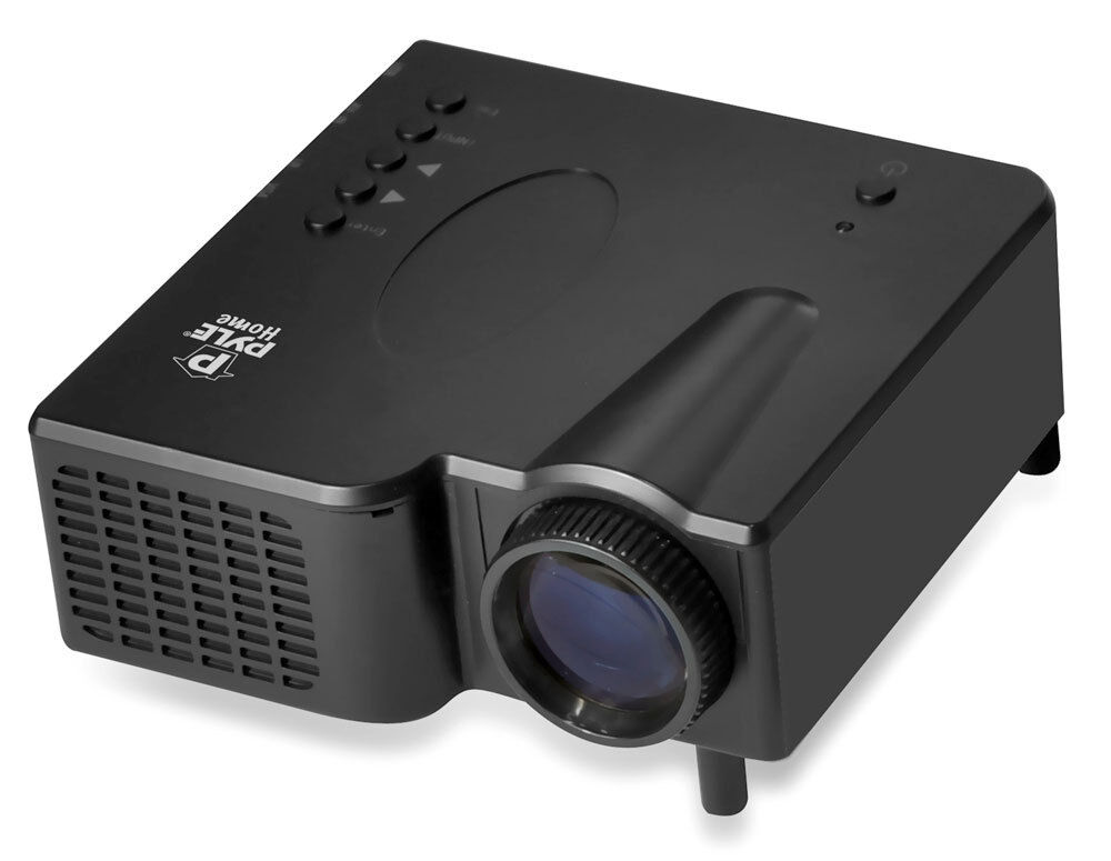 New pyle prjg45 multimedia home theater projector hdmi for Hdmi pocket projector