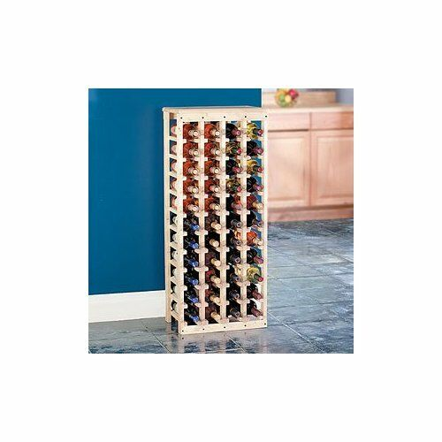 44 bottle wood wine rack with a solid wood top ebay - Small space wine racks design ...
