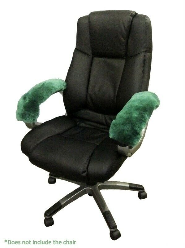 sheepskin armrest cover office arm chair wheelchair scooter genuine wool fit all ebay. Black Bedroom Furniture Sets. Home Design Ideas