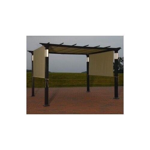 new 8 x 10 led lighting steel pergola garden patio gazebo