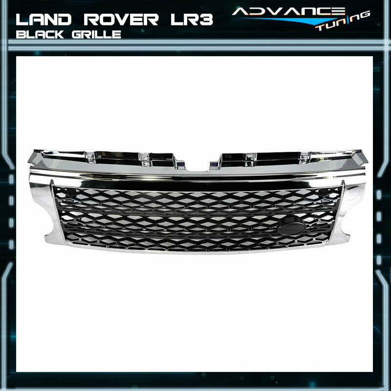 05 09 land rover discovery 3 chrome black grille grill lr3. Black Bedroom Furniture Sets. Home Design Ideas