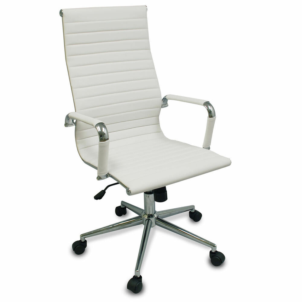 Conference Desks And Chairs: New White Modern Executive Ergonomic Conference Computer