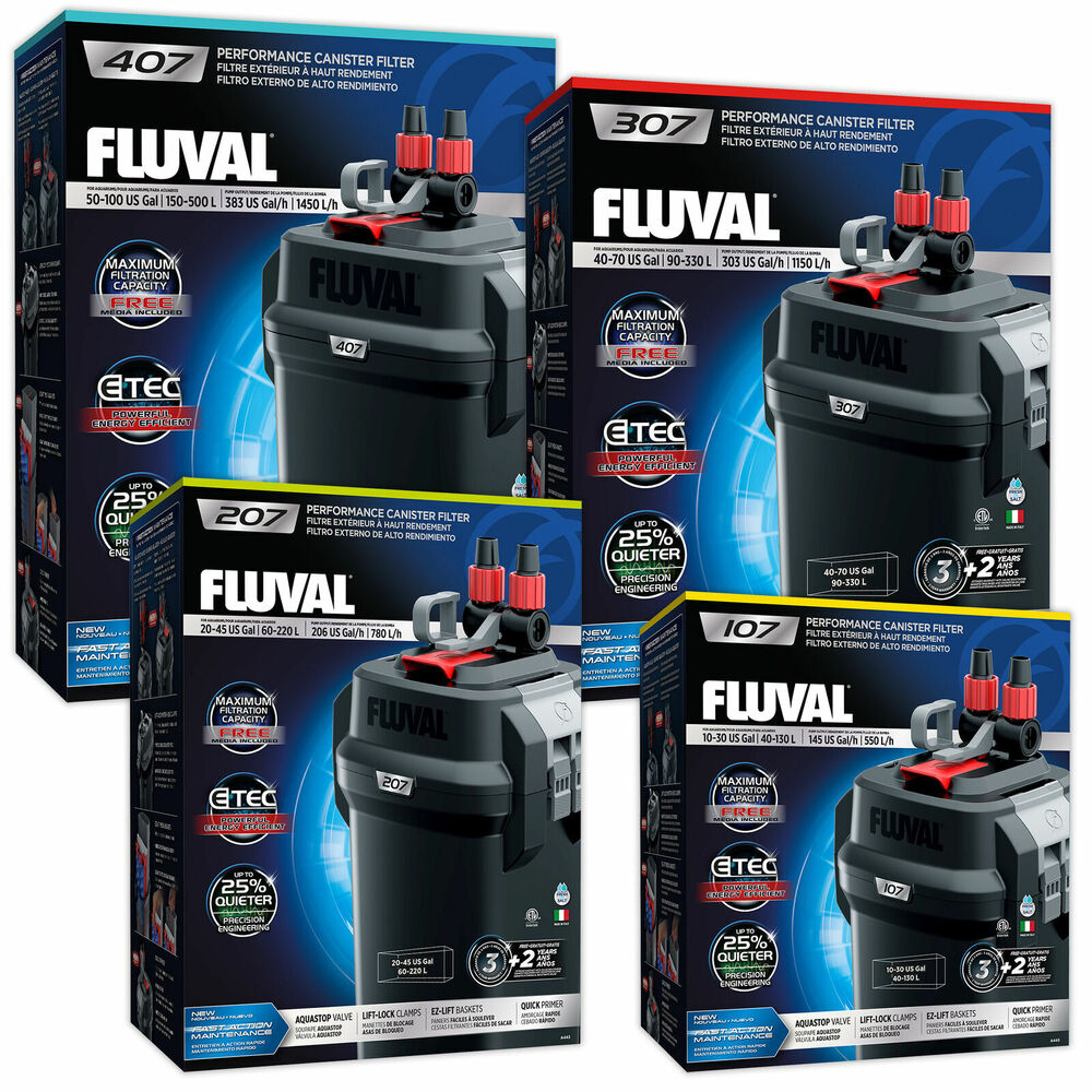 Fluval external canister filter aquarium marine fish tank for Filters for fish tanks